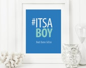 Hashtag Nursery Art - Hashtag Baby Art - Personalized Nursery Decor - Custom Baby Art - Personal Baby Gift - It's a Boy