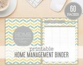 Ikat Chevron Home Management / Household Binder Set