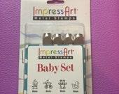 Sale!! ImpressArt baby metal stamp set. 4 stamps