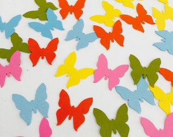 Multicolor butterfly  CONFETTI / Spring party / butterflies confetti / table decor / party decoration