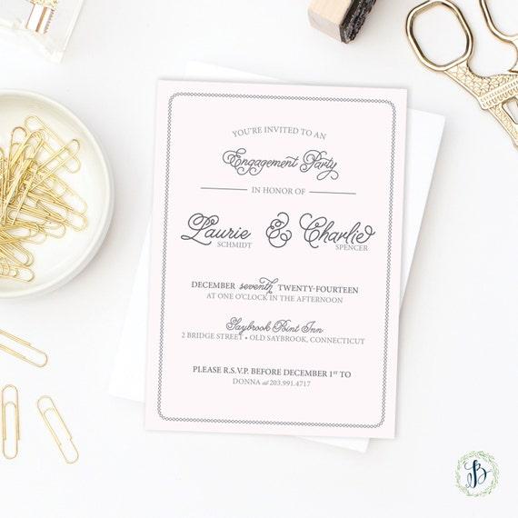 Elegant Engagement Party Invitations Printed Invitations or – Elegant Engagement Party Invitations