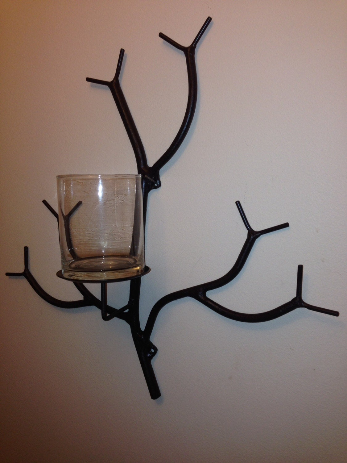 Candle Shaped Wall Lights : Sconce Branch candle holder unique wall mounted tree limb