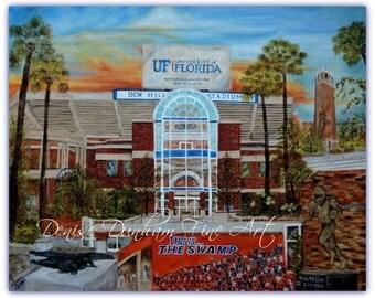 University of Florida Gator's Artwork-The Swamp