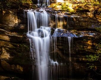 Enchanted Waterfall, Waterfall Spirit, Spiritual Nature Photography, North Carolina Landscapes, Blue Ridge Mountains, Feng Shui Wall Art
