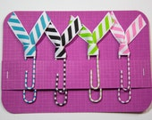 Striped Bow Paper Clips