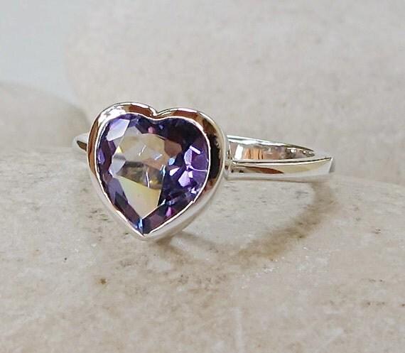 mystic topaz heart ring heart shape promise ring heart by