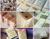 100 Mini Soap Favors // Custom or Ready To Ship // wedding favors, shower favors, baby shower // Personalized label message