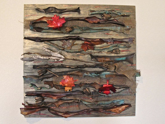 Recycled Copper Art Organic Wall Hanging By LostMarblesJewelry