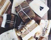 Soap End Bundle. Cold Process Soap. Palm Free Soap. 100% Natural.