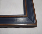16 x 20 Ready to Ship Picture Frame ~ Blue and Brown Wood grain ~ 1 1/2 inch Wide x 3/4 inch tall x 7/16 inch rabbet