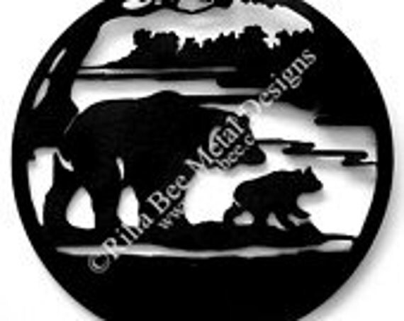 Mamma and Baby Bear Custom Metal Sign