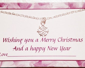 925 Sterling silver snowflake necklace,bridesmaid gift,mom sister gift,best friend gift,christmas gift,cheap jewelry