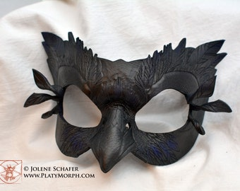Made To Order -- Mormont's Raven Leather Eyemask Cosplay Mask, Game of Thrones Inspired