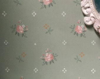 Free Shipping to the US- Shabby Chic Dollhouse Wallpaper