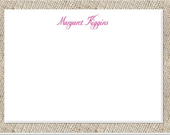 Fun Script Stationery - 25 note cards & envelopes