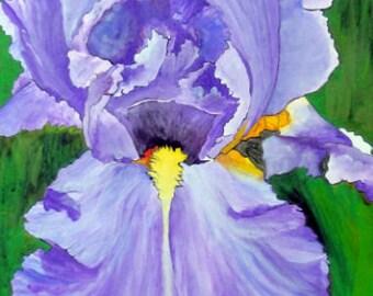 "Iris Wall Art - ""Lavender Lady"" - Painting by Lorraine Skala"
