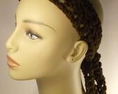 Headband in brown / Teens hair accessory / Tie headband / Head wrap / Crochet adult headband