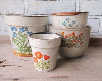 Vintage Speckled Pottery Collection