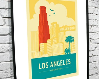 Los Angeles, California Skyline 11x17 Poster