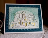 "Stampin up! / CottageCutz- Handmade ""Merry Christmas "" card"