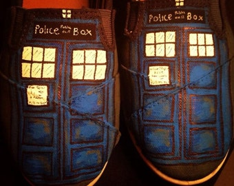 Custom Tardis Shoes