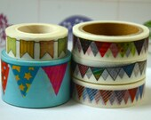 5 Rolls of Japanese Washi Tape Roll- Garlands Party