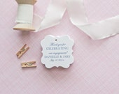 Gift Tags-Engagement Party Favors-Bridal Shower favors-Candy Bar Tags-Wedding Thank you Tags-Love is Sweet Tags-Set of 40