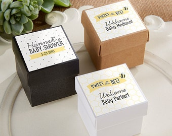 Personalized Favor Boxes (Set of 24),  Brithday Party Favors, Candy Favor Boxes, Baby Shower Favors