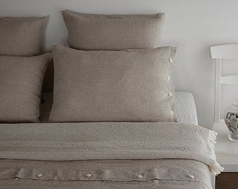 KING DUVET SET - Linen king duvet set - bedding king size - linen king set - linen king bedding - natural grey linen - bedding linen