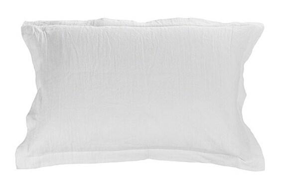 Linen pillow sham - STANDARD, QUEEN, SQUARE pillow cover - flange pillow shams - oxford pillow sham - natural linen bedding - bed linen