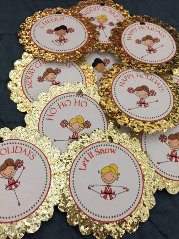 Items similar to Cheerleaders Christmas gift tags on Etsy