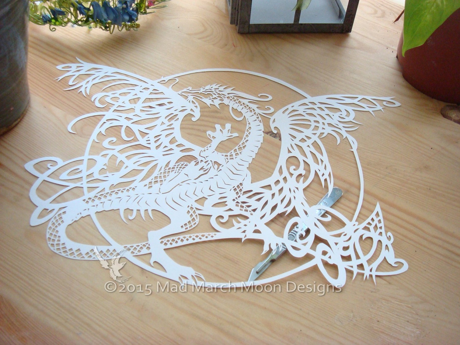 Tangle dragon personal use papercut template pdf download for Chinese paper cutting templates dragon
