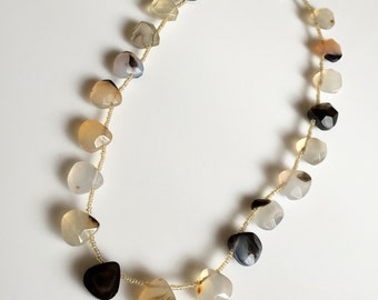 Beautiful Faceted Agate Necklace