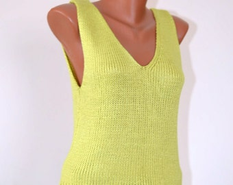 Vintage Silk Crochet Top, size S -M / 34 - 36 /