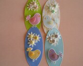 EASTER TAGS - 4 Tag Set - Oval Gift Tags for Easter - Chick Tags