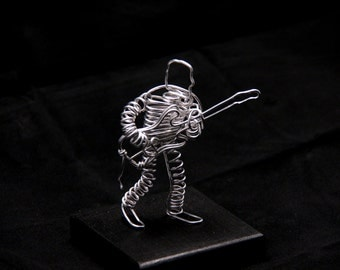 Wire Guitarist Sculpture