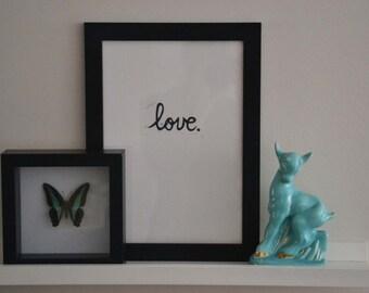 Love - linocut print