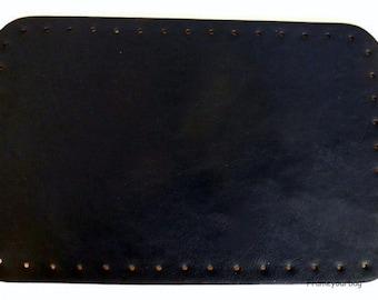 PU handbag bottom Dark Blue HB005