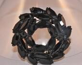 Vintage brooch black Onyx