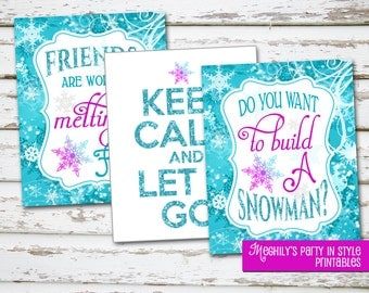 INSTANT DOWNLOAD - Frozen 8x10 signs