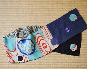 Japanese vintage kimono silk shawl