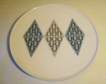 Dinner Plate by Ben Seibel Iroquois Informal - BLUE DIAMOND - Mid Century Modern Retro Dinnerware / '50s Dining