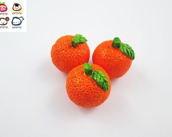 Miniature Orange, oranges, ceramic orange, Ceramic, ceramic fruits, food figurine, miniature food, mini vegetables, dollhouse, tiny, fruit