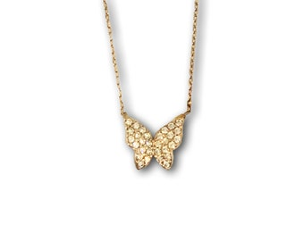 Precious Silver Butterfly Plated with 18K Gold