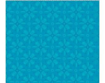 Clothworks Blossom Bliss Blue Tone on Tone Yardage - REDUCED