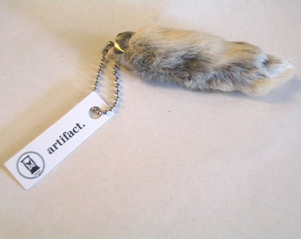 Lucky Rabbit's Foot Keychain - Natural Fur Color