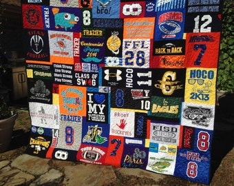 T Shirt Memory Quilt Order - Using Your Shirts - DEPOSIT ONLY
