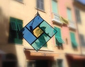 Stained Glass Square Suncatcher