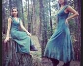 Custom Made to Order Saraswati Wanderlust Dress Stretchy Organic Hemp and Cotton Blend Dyed with Herbs
