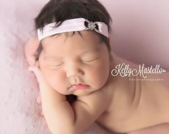 Simple Elegant Headband, Baby Girls Headbands, Newborn headband, Infant headband - Red Headband